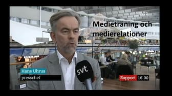Medieträningen ger kunskap om både mediehantering och mediestrategi.