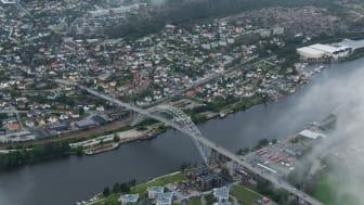 Mandag aktiverte Telenor tre 5G-basestasjoner i Fredrikstad.