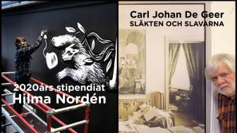 """Pressvisning - Carl Johan De Geer """"Släkten och slavarna"""" och 2020-års stipendiat Hilma Nordén"""
