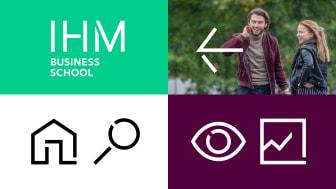 IHM Business Schools nya visuella identitet är framtagen i samarbete med Happy F&B