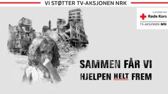 En stolt styreleder i Lions Norge, Lill Alver, kunne fredag 21. oktober overrekke sjekken på 180.000 kroner til generalsekretær i Norges Røde Kors, Svein Mollekleiv.