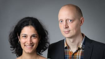 Manya Sundström och Lars-Daniel Öhman, skönhet i matematik. Foto: Mattias Pettersson