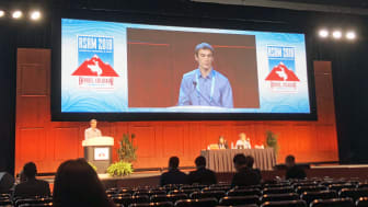 Jonathan Bull, Senior Clinical Research Scientist vid Natural Cycles, vid ASRM-konferensen i Denver, Colorado.