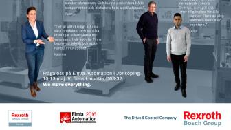 Verklighetens Industri 4.0 står i fokus hos Bosch Rexroth på Elmia Automation