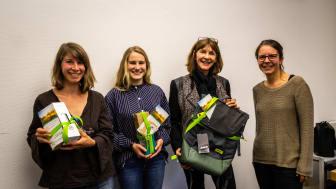 Gewinnerinnen des Ideenwettbewerbs Nachhaltigkeit 2018. Von links nach rechts: Catharina Wünsch, Luise Trippler und Doris Gabel sowie Anna-Maria Schleinitz von der KlimaschutzAgentur