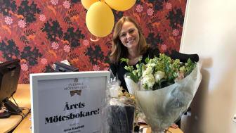 Anna Kaufeldt, Bokningsansvarig på Hotell Kristina, kan numera titulera sig som Årets Mötesbokare.