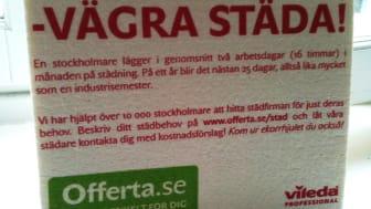 """Offerta.se uppmanar stockholmare: """"Vägra städa""""!"""