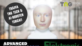 TNG Tech och rekryteringsroboten Tengai medverkar på Advanced Engineering & Elektronikmässan