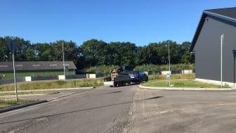 Asfaltarbejde og opstregning lukker genbrugspladsen i Vejen i tre dage