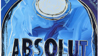 Absolut Warhol Blue (1985) av Andy Warhol.