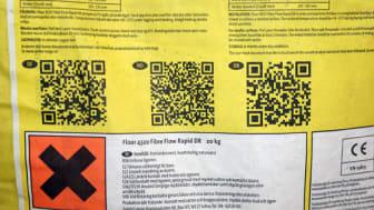 Skanna QR-koden till produktinformationen