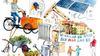 Under veckan kommer runt 20 seminarier om hållbarhet att hållas. Illustration: Charles Goulding