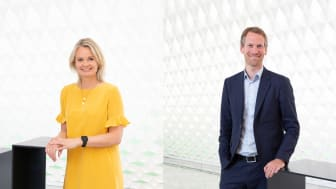FREMOVERLENTE: Ingjerd Blekeli Spiten, konserndirektør for DNB Personmarked, og Torbjørn Folgerø, direktør for digitalisering i Equinor.