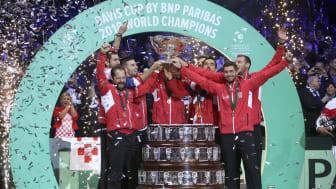 Kroation vandt Davis Cup i 2018. Foto: Jean Catuffe / Getty Images