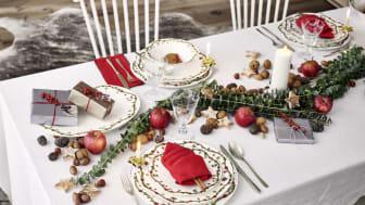 Nostalgisches Weihnachtsfest: die Kollektion Nora Christmas deckt mit seinem verspielten Dekor die Weihnachtstafel ganz traditionell und heimelig.
