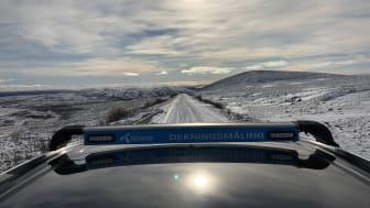Bjørn Amundsens dekningstur gikk gjennom alle landets fylker. Her fra Finnmark.