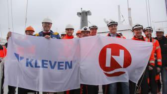 Prosjektleiar Asbjørn Vattøy frå KLeven og kaptein Rune Andreassen