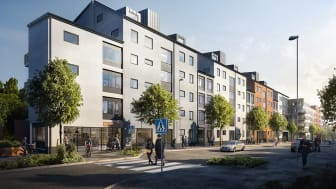 BRABO bygger 91 hyresrätter längs Dragonvägen i Upplands Väsby