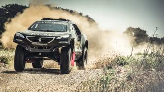 Peugeot 2008 DKR testkörs inför Dakarrallyt