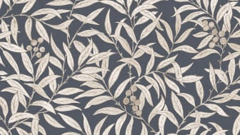 Wallpaper Scandinavia 10x053 m Leaf creeper Dark blue Non-woven