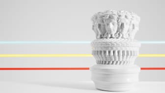 Inspired by the idea of a rotating Medusa head: Euphoria collection by Rosenthal meets Versace.