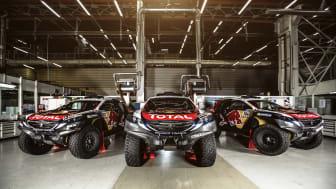 Team Peugeot Total är redo för Dakarrallyt