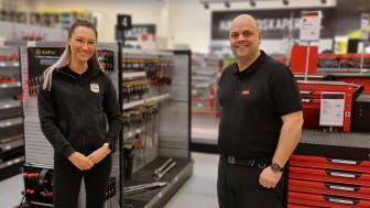 Butikksjef Morten og Butikkmedarbeider Ida Mari
