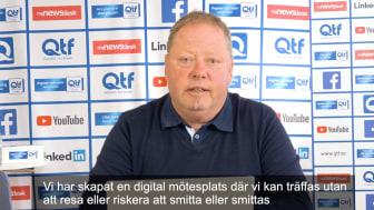 Elving Isaksson, QTF, bjuder in till möten digitalt