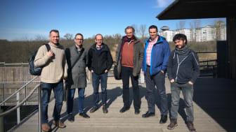 Från vänster: Ola Svahn (HKR), Jerker Fick (Umeå universitet), Erland Björklund (HKR), Kai Bester (Aarhus universitet, Danmark), Haitham El-Taliawy (Aarhus universitet), Pablo Gago-Ferrero (SLU Uppsala).