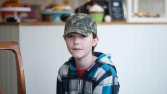 Insulinpumpen är en självklar del av 12-årige Jonatans liv