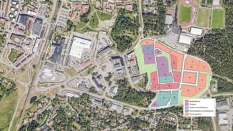 Kartbild över området Åbyholm