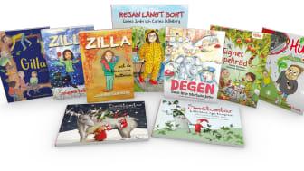 """Förlagets nio mest sålda barnböcker ingår i projektet """"Klassboken""""."""