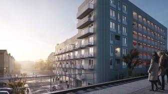 Visionsbild Bandhagen Centrum - Wallenstam