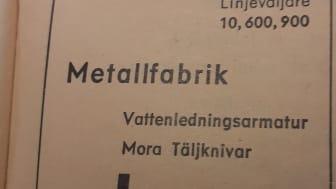 Annons FM Mattsson 1952