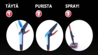 Vileda 1-2 Spray® heti-valmis-mopilla lattian pikasiivous on helppoa