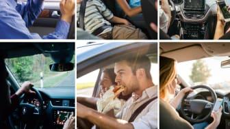 Bundesweite, repräsentative Online-Studie zur unterschätzten Unfallgefahr: Ablenkung verursacht jeden 10. Unfall in Deutschland.