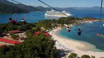 Rederiet RCCL er det mest populære blandt Spies' krydstogtgæster. I vinterhalvåret er det sejladser i Caribien, som er mest populære, og mange krydstogtruter lægger vejen forbi smukke Labadee.
