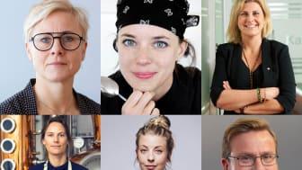 Karin Lindström, Titti Qvarnström, Nina Wahlgren Gill, Anna Wikner, Frida Ronge och Ola Olsson deltar på Stellagalans Forum 20 april.