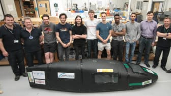 Team NUCLEUS, pictured with their bioethanol-fuelled car