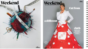 Left-right: Cover designs for The Guardian's Weekend supplement by students Holly Shepley, Fauve Wright and Chloe Fairweather.
