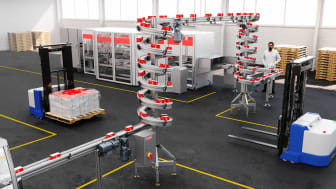 The compact spiral allows manufacturers to increase available production floor space.