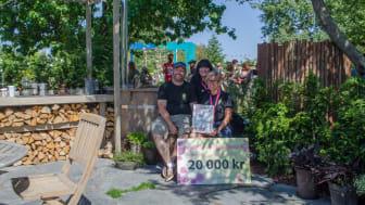 """Vinnare Best in Show trädgård. Hvilan utbildning med bidraget """"Kaffe med dopp"""". Foto Molly Mullane."""