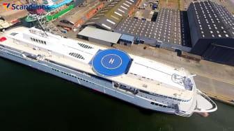 Scandlines' skibsskrog ankommer til FAYARD A/S