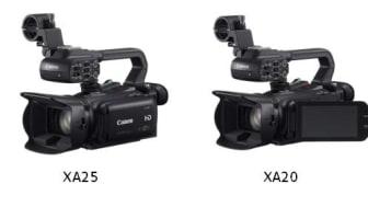 Canon utvider de kreative mulighetene med tre nye videokameraer – XA25, XA20 og LEGRIA HF G30
