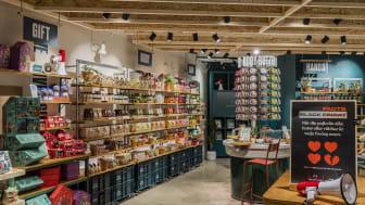 Ett butikskoncept där inredningen är skapad av återvunna material och kunderna inspireras att ta del av The Body Shops företagsaktivism.