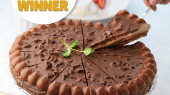Vår Toblerone-tårta fick pris som bästa dessert i UK!