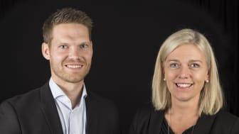 Kristoffer Ekman och projektledare Karin Appelberg från Högskolan i Skövde.