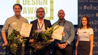 Från vänster: David Gustavsson - LED System, Jonas Olsson, Tobias Hallander och Ulrica Aune - PM Flex