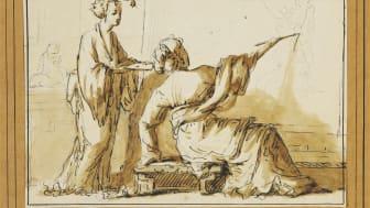 French school, 18th century: A female painter in an oriental atelier. Estimate: DKK 20,000-30,000 / € 2,700-4,000