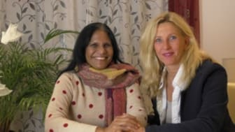 Ingrid Riedlberger mit Grace Kuhn-Jonnakuti 2017 in Deutschland